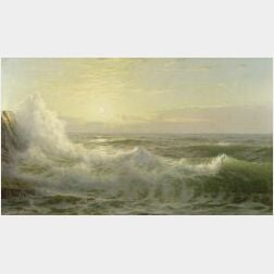 William Trost Richards (American, 1833-1905)  Sunlit Waves