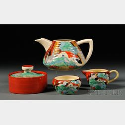 Four Clarice Cliff Forest Glen   Pattern Items