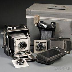 4x5 Crown Graphic Camera and Accessories