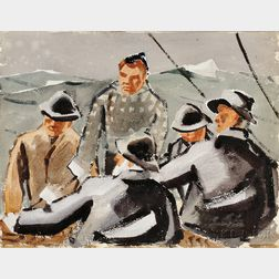 James Fitzgerald (American, 1899-1971)      Fishermen, A Double-sided Work