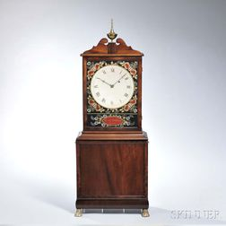 Reproduction Aaron Willard Mahogany Shelf Clock