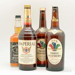 Mixed American Whiskey, 3 1 quart bottles 1 750ml bottle