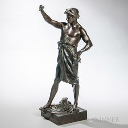After Émile Louis Picault (French, 1833-1915)      Bronze Figure of Glorie de Fortune