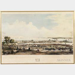 Framed Jonathan B. Batchelder Camp Banks, August 25th, 26th, & 27th, 1868, Encampment of the 2D Div. of M.V.M. on Winter Island, Salem