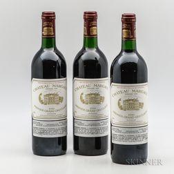 Chateau Margaux 1990, 3 bottles