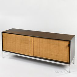 Florence Knoll Woven Cane Door Credenza