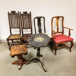Six Pieces of Mostly Continental Furniture