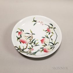 "Famille Rose ""Peach"" Dish"
