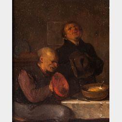 School of Egbert van Heemskerck II (Dutch, c. 1676-1744)      Prayer Before a Humble Meal