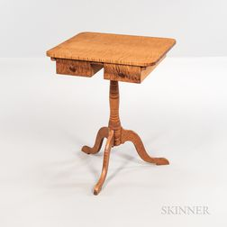 Reproduction Shaker Tiger Maple Two-drawer Stand
