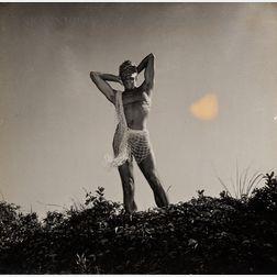 George Platt Lynes (American, 1907-1955)      Self-Portrait in Loincloth