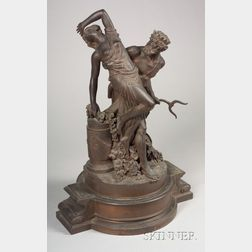 """""""Grand Tour"""" Bronze Figural Group of Neptune and Persephone"""