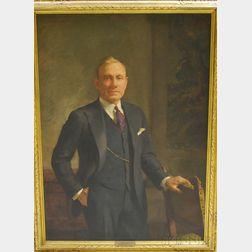 Howard E. Smith (American, 1885-1970)      Portrait of Roscoe A. Carter