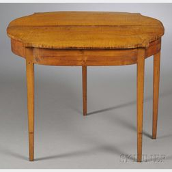 Federal Tiger Maple Card Table