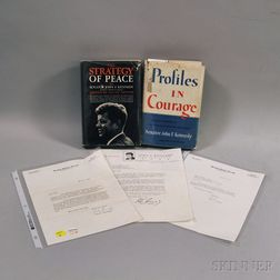 Kennedy, John F. (1917-1963) Two Volumes and Three Letters.