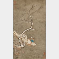 Hanging Scroll Depicting a Winter Landscape