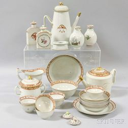 Twenty-six Chinese Export Porcelain Tableware Items