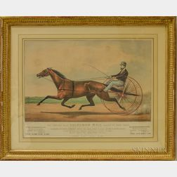 Two Framed Currier & Ives Lithographs of Horse Racing