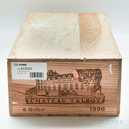 Chateau Talbot 1996, 12 bottles (owc)