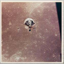 Apollo 11, The Command Spaceship Columbia in Lunar Orbit Over Sinus Successus (NASA AS11-37-5443), July 1969.