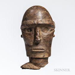 Head of an Easter Island Moai Kavakava Figure