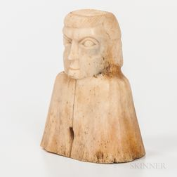 Northwest Coast Carved Whalebone Bust