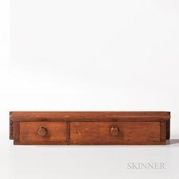 Shaker Two-drawer Wall Shelf