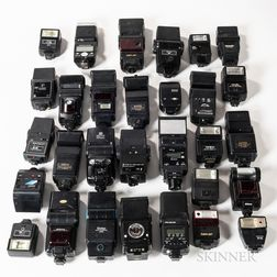 Group of Various Flash Units.