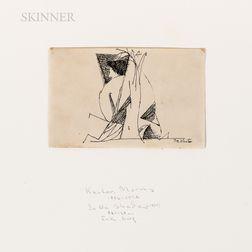 Morris Kantor (American, 1896-1974)      Two Drawings: Flight