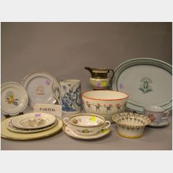 Lot of Assorted Decorated Porcelain Tableware