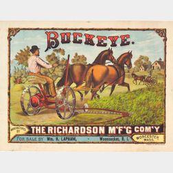 Richardson Manufacturing Co. Buckeye,   Worcester Mass. Advertising   Chromolithograph