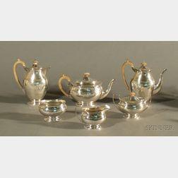 George V Silver Six Piece Tea and Coffee Service