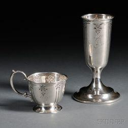Twelve International Sedan   Pattern Sterling Silver Cordials and   Six Demitasse Cups