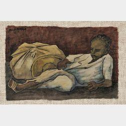 Diego Rivera (Mexican, 1886-1957)      Niño Recostado con Bulto, S.F.