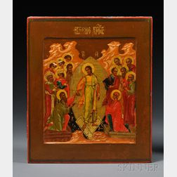 Russian Icon of the Resurrection of Christ