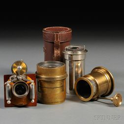 Group of Brass Lens Parts