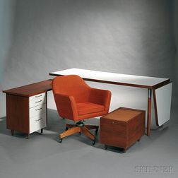 Custom Desk Designed by Ben Thompson and an Office Chair