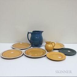 Seven Saturday Evening Girls Pottery Items