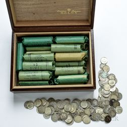 Approximately 1800 Barber, Mercury, and Roosevelt Dimes.     Estimate $1,500-2,000