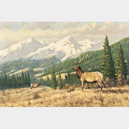 Robert S. Sleicher (American, 1927-2017)      Alberta Elk