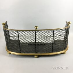 Brass and Wirework Fireplace Fender