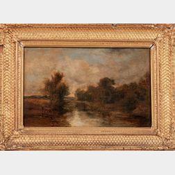John Linnell (British, 1792–1882)      River Scene