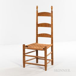 Reproduction Shaker Figured Maple Side Chair