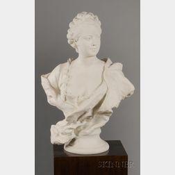 Sevres Bisque Bust of Madame de Pompadour