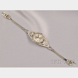 Art Deco Lady's Platinum and Diamond Wristwatch