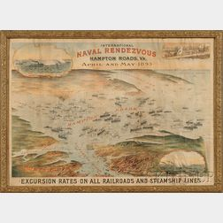 Sam W. Bowman, lithographer (Norfolk, Virginia, Late 19th Century) International Naval Rendezvous, Hampton Roads, Va., April and May...