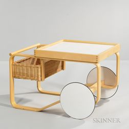 Contemporary Alvar Aalto-style Cart