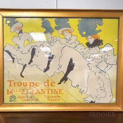 After Henri de Toulouse-Lautrec (French, 1864-1901)      Troupe de Mlle Eglantine