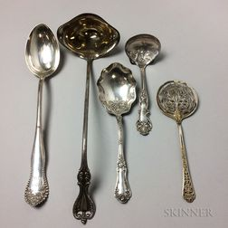Five Silver Serving Pieces