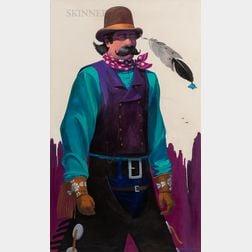 James Darum (American, 20th/21st Century)      The Brown Derby: Portrait of a Cowboy